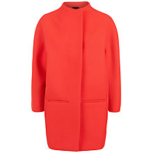 Buy Jaeger Wool Cocoon Coat, Pink/Red Online at johnlewis.com