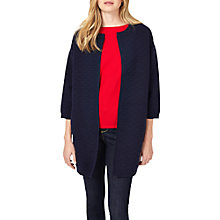 Buy Phase Eight Luisa Textured Knitted Coat, Navy Online at johnlewis.com