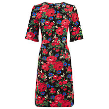 Buy Warehouse Rose Printed Ponte Dress, Multi Online at johnlewis.com
