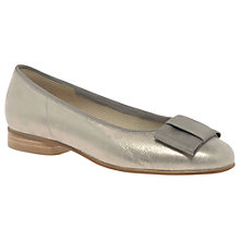 Buy Gabor Assist Bow Ballet Pumps, Gold Online at johnlewis.com