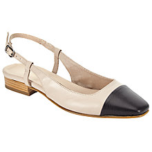 Buy John Lewis Camilla Slingback Pumps, Natural Online at johnlewis.com
