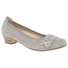 Buy Gabor Edwina Wide Fit Block Heeled Court Shoes Online at johnlewis.com