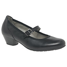 Buy Gabor Sensation Extra Wide Court Shoes, Black Online at johnlewis.com