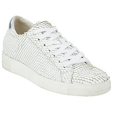 Buy Kin by John Lewis Electra Textured Trainers, White Online at johnlewis.com