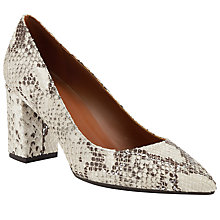 Buy Modern Rarity Malia Block Heeled Court Shoes, Natural Snake Online at johnlewis.com
