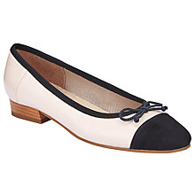 Buy John Lewis Halle Ballet Pumps, Nude/Black Online at johnlewis.com