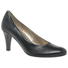Buy Gabor Lavender Cone Heeled Court Shoes, Black Online at johnlewis.com