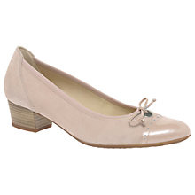 Buy Gabor Islay Wide Fit Block Heeled Court Shoes, Skin Online at johnlewis.com