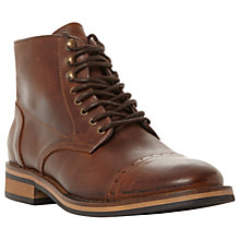 Buy Bertie Charli Toecap Detail Lace-Up Leather Boots, Brown Online at johnlewis.com