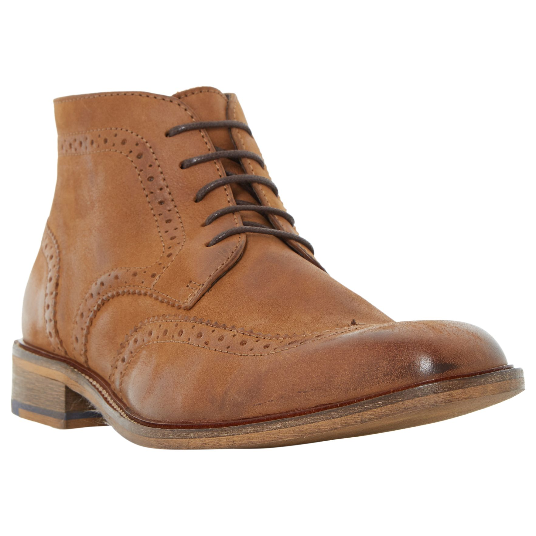 Bertie Bertie Canister Brogue Boots, Tan