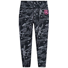 Buy Converse Girls' Chuck Taylor Sneaker Toss Print Capri Leggings, Black Online at johnlewis.com