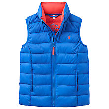 Buy Little Joule Boys' Crofton Packaway Gilet, Blue Online at johnlewis.com