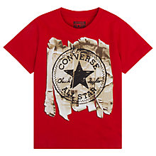 Buy Converse Boys' Tape Chuck Patch T-Shirt, Red Online at johnlewis.com