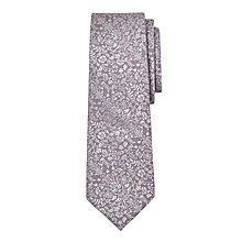 Buy John Lewis Boys' Natural Woven Floral Tie, Gold Online at johnlewis.com