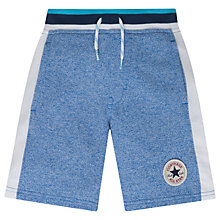 Buy Converse Boys' Colour Block Marl Shorts, Blue Online at johnlewis.com