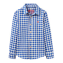 Buy Little Joule Boys' Sark Check Shirt, Blue/White Online at johnlewis.com