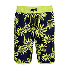 Buy John Lewis Boys' Palm Print Surf Shorts, Multi Online at johnlewis.com