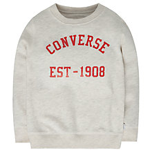 Buy Converse Boys' Vintage Style Crew Neck Sweatshirt, Oatmeal Online at johnlewis.com
