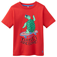 Buy Little Joule Boys' Ben Turtle Print T-Shirt, Red Online at johnlewis.com