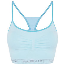 Buy Manuka Yoga Studio String Bra Top, Blue Online at johnlewis.com