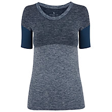 Buy Manuka Demi Stripe Flow Yoga T-Shirt, Indigo Online at johnlewis.com