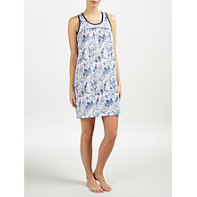 Buy John Lewis Shelley Sea Print Chemise, Ivory/Blue Online at johnlewis.com
