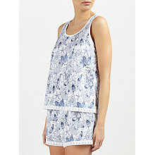 Buy John Lewis Shelley Sea Print Tank Top And Short Set, Ivory/Blue Online at johnlewis.com