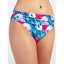 Buy John Lewis Lush Tropical Fold Down Bikini Briefs, Blue/Multi Online at johnlewis.com