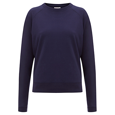 Finery Bidder Forever Zip Detail Sweatshirt, Navy