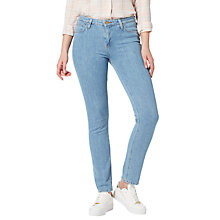 Buy Lee Elly High Waist Slim Jeans, Bleached Stone Online at johnlewis.com