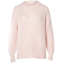 Buy Selected Femme Hema Chunky Knit Jumper, Heavenly Pink Online at johnlewis.com