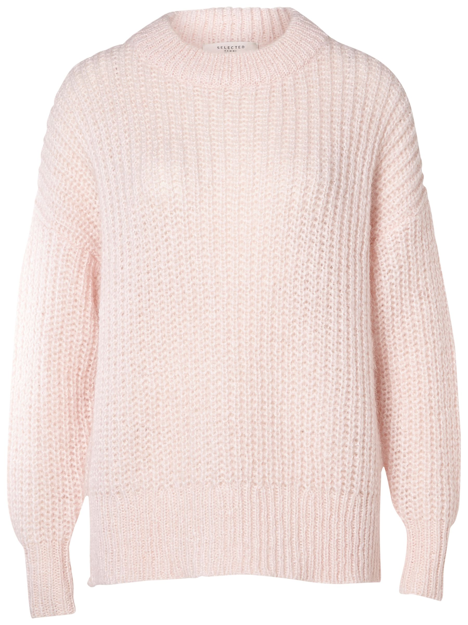 Selected Femme Selected Femme Hema Chunky Knit Jumper, Heavenly Pink
