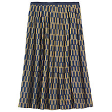 Buy Toast Checkerboard Ikat Skirt, Navy/Gold Online at johnlewis.com