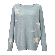 Buy 360 Sweater Galaxia Star Print Cashmere Jumper, Chambray/Adobe Online at johnlewis.com