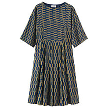 Buy Toast Checkerboard Ikat Dress, Navy/Gold Online at johnlewis.com
