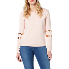 Buy Lee Foil Sweatshirt, Pale Pink Online at johnlewis.com