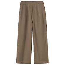 Buy Toast Cotton Twill Side Fastening Trousers, Mink Online at johnlewis.com