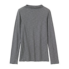 Buy Toast High Neck Stripe T-Shirt, Slate/Washed White Online at johnlewis.com