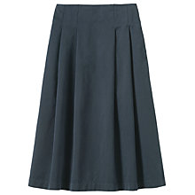 Buy Toast Cotton Twill Skirt, Blue Slate Online at johnlewis.com