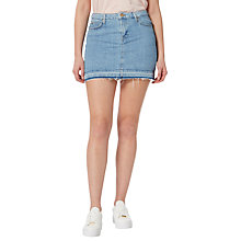 Buy Lee Denim Skirt, Bleached Stone Online at johnlewis.com