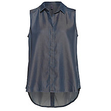 Buy NYDJ Sleeveless Shirt, Breton Dark Rinse Online at johnlewis.com