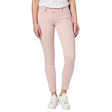 Buy Lee Scarlett Regular Waist Skinny Jeans, Pale Pink Online at johnlewis.com