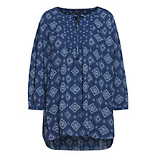 Buy NYDJ Tie Neck Printed Top, Bandana Blue Online at johnlewis.com