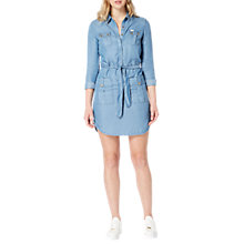 Buy Lee Denim Shirt Dress, Flat Mid Online at johnlewis.com