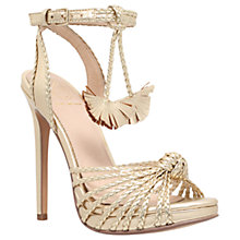 Buy KG by Kurt Geiger Hodax Occasion Stiletto Sandals, Gold Online at johnlewis.com
