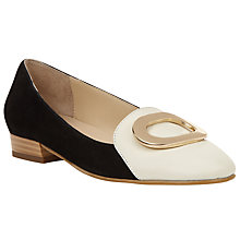 Buy John Lewis Glenda Loafers, Black/White Online at johnlewis.com