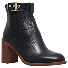Buy KG by Kurt Geiger Sebastien Block Heeled Ankle Boots, Black Croc Online at johnlewis.com