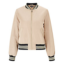Buy Miss Selfridge Squad Goals Bomber Jacket, Neutral Online at johnlewis.com