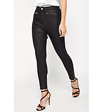 Buy Miss Selfridge Steffi Coated Jeans, Black Online at johnlewis.com