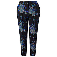 Buy Miss Selfridge Bloom Floral Jacquard Trousers, Black Online at johnlewis.com